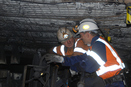 the Premier's visit to Helensburgh mine in 2011 Image credit: flickr.com User: Tony Abbott