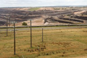 Open cut brown coal mine at Loy Yang Image credit: flickr User: Marcus Wong