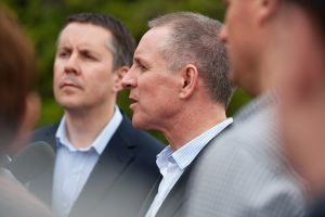 The SARMS announcement with Premier Jay Weatherill and former Federal Water Minister Mark Butler August 2013 Image credit: PIRSA website (http://www.pir.sa.gov.au/sarms-iiip/media_centre/gallery?root_node_selection=209497)