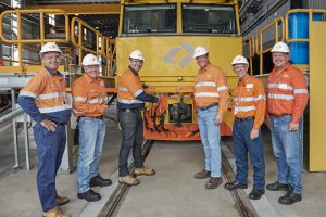 Ribbon cutting - Aurizon Hexham Train Support Facility Launch Image credit: www.aurizon.com.au