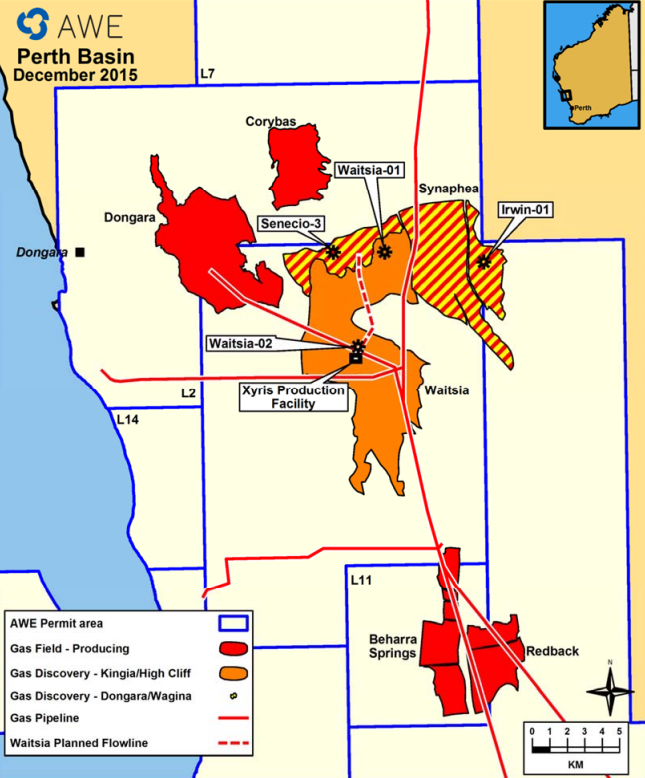 AWE and Origin Energy greenlight first stage Waitsia gas field development