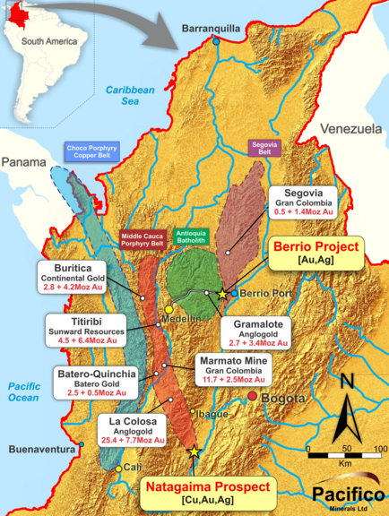 Pacifico Minerals begins drilling campaign at Berrio Gold project in Colombia