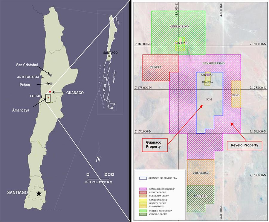 Map: New Properties Acquisition Surrounding Amancaya Image credit: australgold.com.au