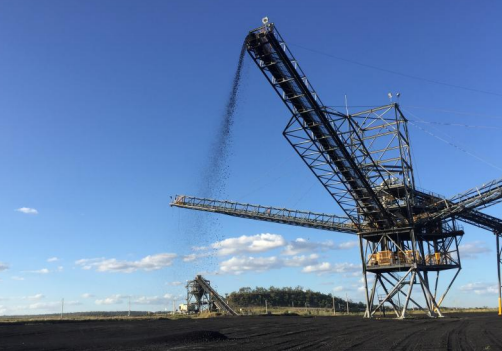 First product coal on stockpile Image credit: Stanmore Coal ASX release