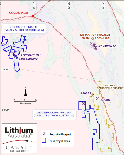 GLiA acquires Widgiemooltha Project lithium rights