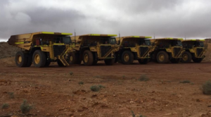 MACA mining fleet ready for action Image credit: Blackham Resources ASX release