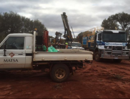 RC drilling commences at Mt Weld gold project Image credit: Matsa Resources ASX release