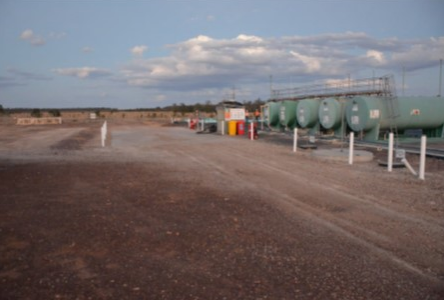 Emu Apple facility including offloading area Image credit: Armour Energy ASX release