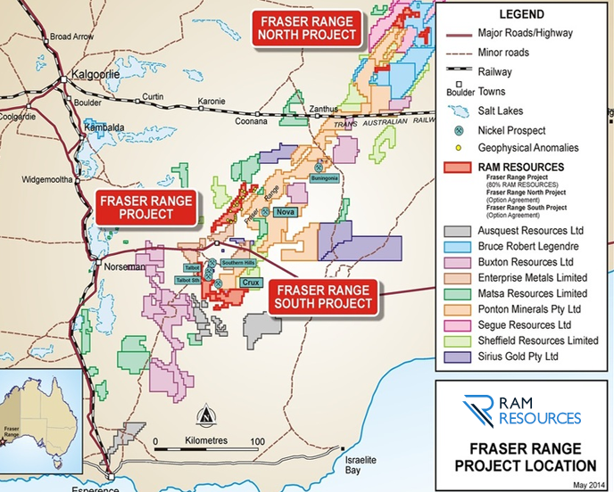 Ram Resources to acquire remaining interest in Fraser Range project