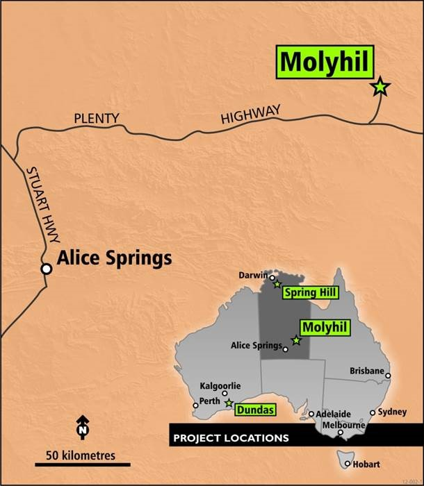 Thor Mining completes exploration drilling program near Molyhil tungsten deposit