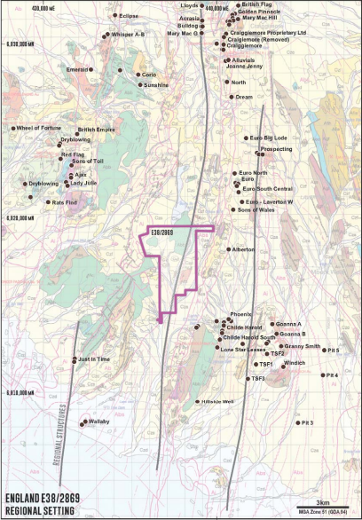 England gold project Image credit: Spitfire Minerals ASX release