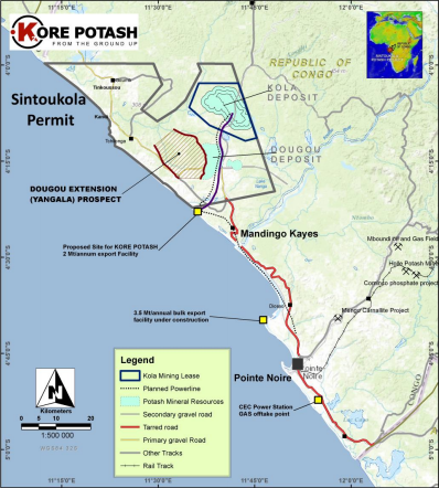 Kore Potash commences drilling activities in Kongo