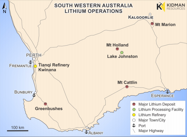 Kidman to process Earl Grey lithium ore at nearby Poseidon plant
