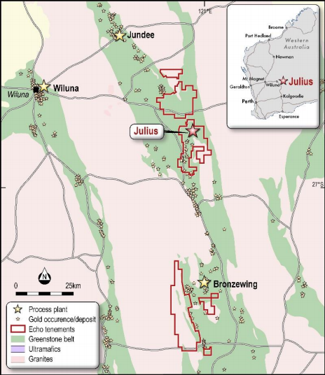 Echo Resources: Julius Gold Deposit Mining Lease granted