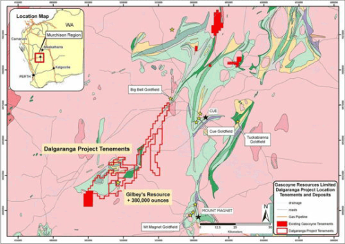 Gascoyne raises $50m to develop its 100% owned Dalgaranga Gold Project